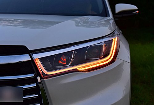 GOWE Car Styling For Toyota HIGHLANDER headlights For HIGHLANDER head lamp Angel eye led DRL front light Bi-Xenon Lens xenon Color Temperature:6000k;Wattage:35w 2