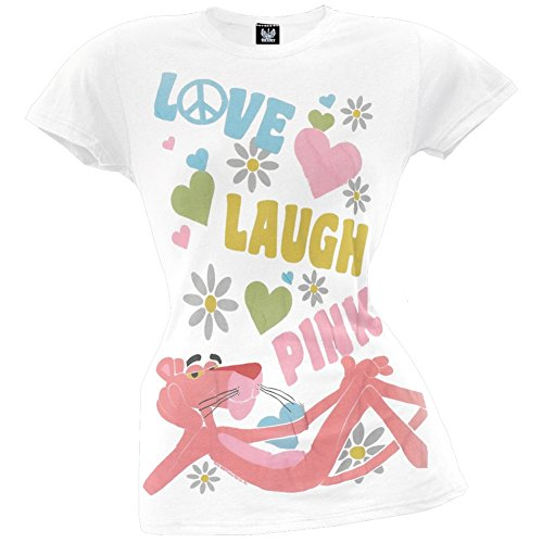 Pink Panther - Love Juniors T-Shirt
