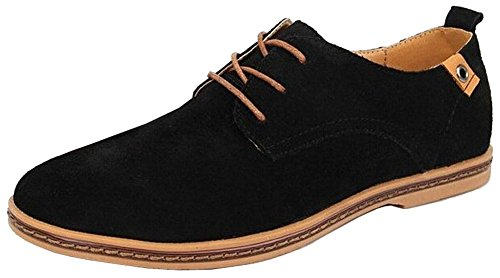 Suede shoes style Flats Men's Men European Black california genuine Shoes casual sneakers for Loafers leather oxfords wAFCwaxq