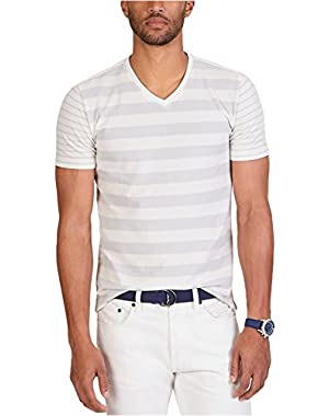 Mens Slim-Fit Stripe Graphic T-Shirt