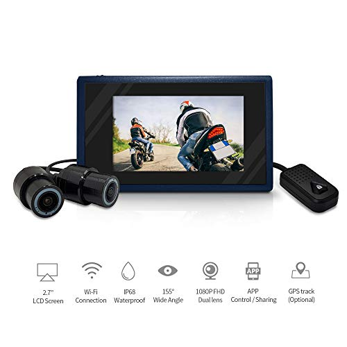 Module Cam (Biker's WIFI Video Driving Rocorder Dual Lens 1080P Camera Sports Action Camera Motorcycle Dash Cam 2.7