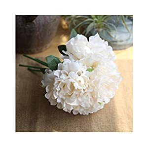 "Artfen 5 Heads Artificial Peony Silk Flower Fake Hydrangea Flowers Home Bridal Wedding Party Festival Bar Decor Approx 7.5"" in Diameter 106"