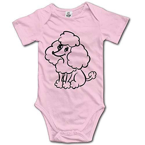 (dealtsht Funny Poodles Unisex Newborn Baby Rompers Short Sleeve Jumpsuit Toddler Outfits Pink)