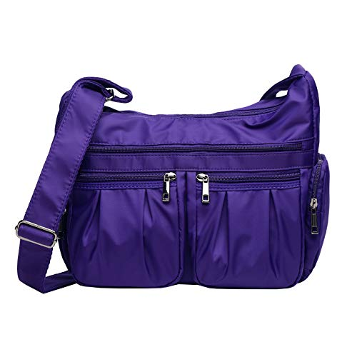 bb4da2993b14 Crossbody Bags for Women Multi Pocket Shoulder Bag Waterproof Nylon Travel  Purses and Handbags Lightweight Work Bag