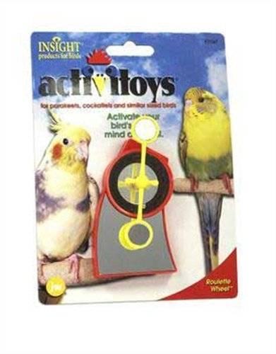 JW Pet Company Activitoy Roulette Wheel Small Bird Toy, Colors Vary, My Pet Supplies