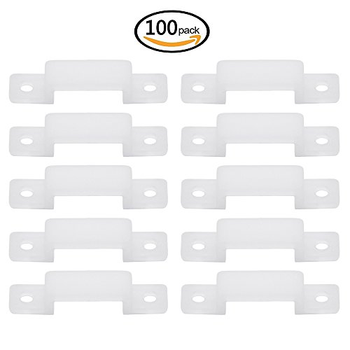 Dreamtop 100 pcs Light Strip Fixing Holder LED Strip Connector Silicon Fastener Clip for 10MM SMD5050 Light Strip