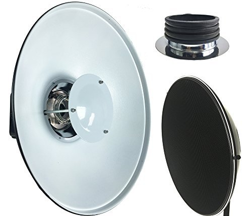 ePhotoInc Pro Beauty Dish 22'' Honeycomb Grid and Speedring for Profoto Compact Lights Series Strobe PF22H by ePhotoinc
