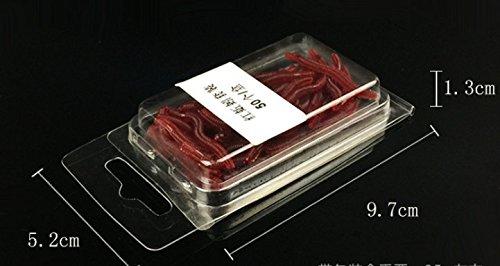 50/pcs 3,6/cm Rouge souple en silicone WORM Leurres de p/êche Rouge Earthworm app/âts vers app/âts de p/êche Leurres de plastique souple