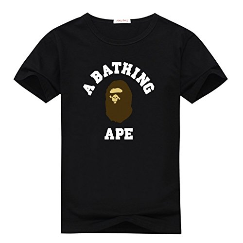Zomicky Bape Brown And White Graphic Mens Classic Cotton T-shirt Top