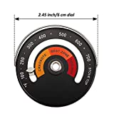 Magnetic Top Thermometer Wood Stove Thermometer