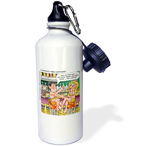Londons Times Funny Famous Cartoons - Tarzan Pick-Up Lines - 21 oz Sports Water Bottle (wb_3420_1)