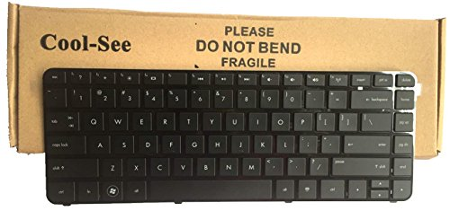HIGHFINE Laptop replacement keyboard with frame compatible with HP Pavilion dm4-3000 dm4-3100 dv4-3000 dv4-3100 dv4-3200 dv4-4000 dv4-4100 dv4-4200 HP Pavilion dm4-3013cl dm4-3050us dm4-3052nr dm4-3055dx dm4-3056nr dm4-3070ca dv4-4001xx dv4-4004xx dv4-4030us dv4-4031he dv4-4032nr dv4-4033nr dv4-4038ca dv4-4048ca dv4-4140us dv4-4141us dv4-4270us dv4t-4000 dv4t-4100 CTO dv4t-4200 dm4-3007xx dm4-3090ca dm4-3090se dm4-3099se dm4-3170se dm4-3177nr dm4t-3000, US layout Black color (Hp Pavilion Dm4 Laptop Keyboard)