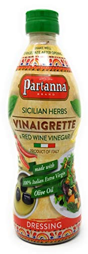 Partanna Sicilian Herb & Red Wine Vinaigrette 100% Italian Olive Oil All Natural Non GMO, Gluten Free - 2 Pack