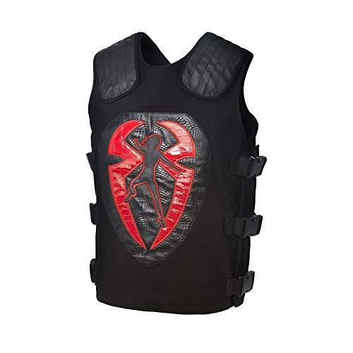 Cup Of Fashion Superhero Halloween Costume Vest - Men Cosplay Leather Merchandise (Large, Roman Reign Vest) -