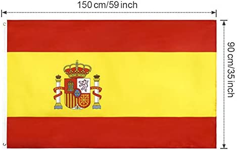 YHmall 2pcs Bandera España de 150x90 cm/Bandera Italianna/Bandera Alemana/ Bandera Francesa, Bandera de Conferencia, Bandera de Jardín, Bandera de Desfile, Bandera de Fútbol: Amazon.es: Jardín