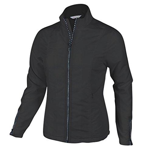 Monterey Club Ladies Lightweight Rhinestone Zipper Jacket #2780 (Black, Medium)