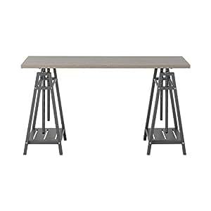 Homestar Furniture Height Adjustable Desk In Reclaimed