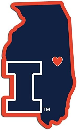 NCAA Siskiyou Sports Fan Shop Illinois Illini Home State Decal One Size Team Color