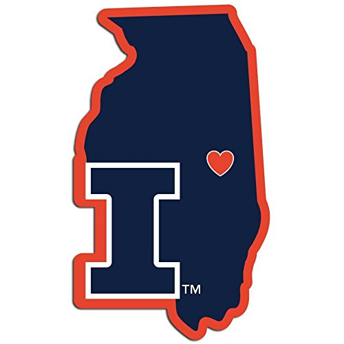 Siskiyou NCAA Illinois Illini Home State Decal, 5 Inch