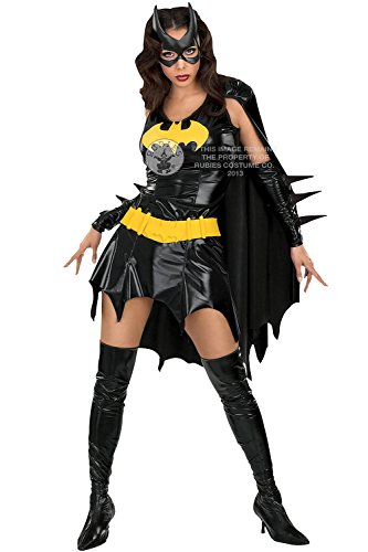 [Rubies Womens Secret Wishes Batgirl Fancy Dress Costume - Black - Medium] (Batwoman Costume Cape)