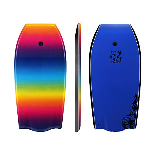 Random 37 inch and 41 inch High Performance Bodyboards Lightweight with EPS core(Rainbow and color dots two colors Available) (Ranbow, 41)