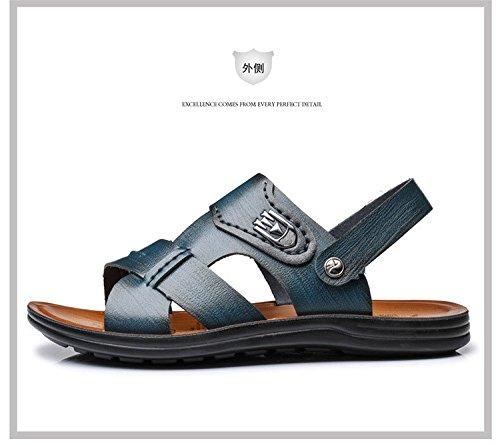 estate Il nuovo Uomini Spiaggia scarpa traspirante Uomini sandali fibra Uomini sandali Tempo libero Uomini scarpa ,blu,US=8.5,UK=8,EU=42,CN=43