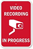 """Video Recording In Progress (with Graphic) Sign, 18"""" x 12"""""""