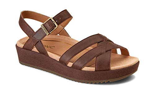 Vionic Women's Tropic Violet Sandal - Ladies Sandals Concealed Orthotic Support Chocolate 11 W US