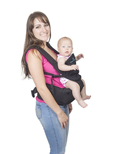 c9c4eabc51c ... Five Position Baby Carrier with Hip Seat AND Hoodie – Baby Backpack and  Kangaroo with Adjustable ...