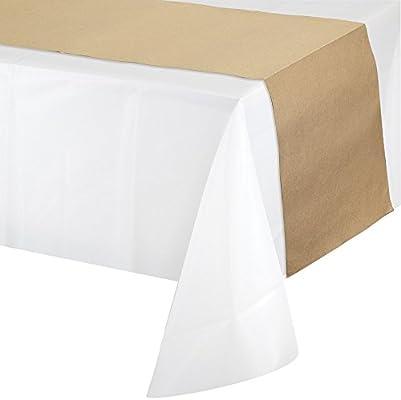 Shindigz Kraft - Camino de mesa de papel: Amazon.es: Hogar