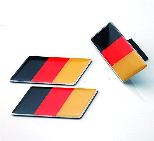 3pcs B064 Germany Deutschland Flag Grille + Fender Side Emblem Decal Badge Sticker Volkswagen VW BENZ AUDI BMW SEAT