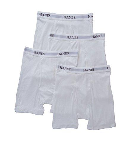 HANES Platinum Premium Boxer Briefs - 4 Pack (Y692) L/White