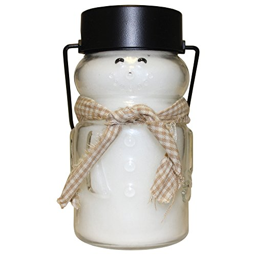 A Cheerful Giver Sugar Cookie Snowman Lantern Jar Candle, 10-Ounce