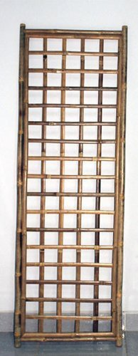 (Framed Bamboo Panel with Square Lattice Opening 72H x 24