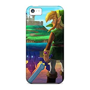 Fashionable Style Cases Covers Skin For Iphone 5c- Link Holding His Sword