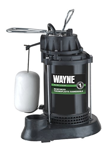 WAYNE SPF50 1/2 HP Thermoplastic Sump Pump with Integrated Vertical Float Switch ()