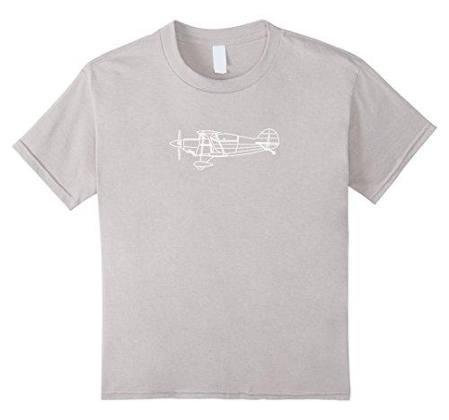 Aerobatic Biplane (Kids The Sport Biplane: Aerobatic Airplane T-Shirt Front & Back 8 Silver)