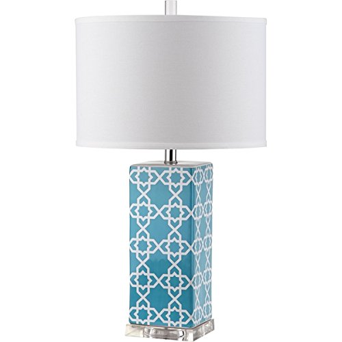Safavieh Lighting Collection Quatrefoil Light Blue 27-inch Table (Quatrefoil Collection)