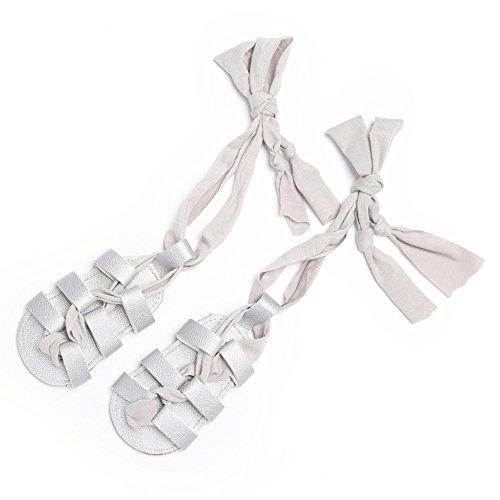 Sandalias De Bebe,BOBORA Prewalker Zapatos Primeros Pasos Para Bebe Vendajes De Bebe Con Sandalias plata