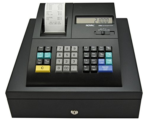 Royal 210DX Cash Register (24 dept., 1500 PLU, thermal, fits US/Canada bills)
