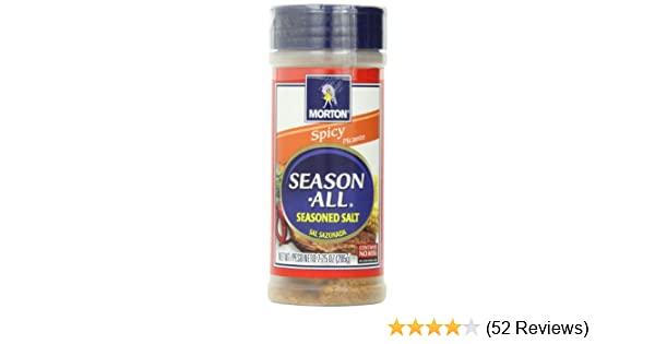Amazon.com : Morton Season-All Seasoned Salt, Spicy, 7.25-Ounce ...