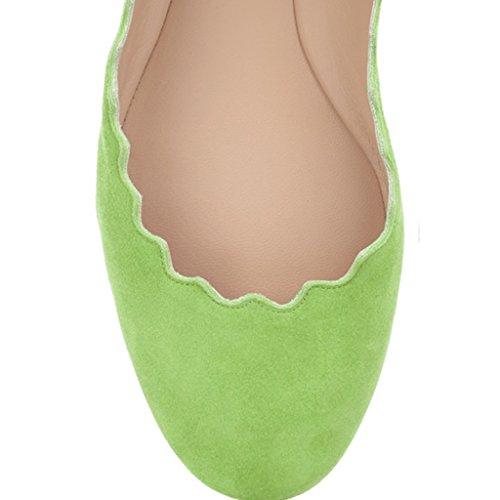 Scarpe Da Donna Sveglie Fsj Scarpe Da Ballo Smerlantici Punta Rotonda In Pelle Scamosciata Per Il Comfort 4-15 Us Verde Erba