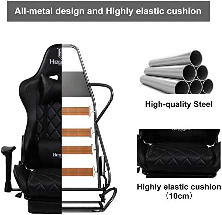 HEALGEN Gaming Chair Ergonomic Video Game Chair with Footrest Soft Headrest and Lumbar Pillow Gaming Chair Backrest and Seat Height Adjustable Swivel Video Game Chair Adjustable armrest Gaming Chair