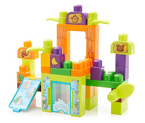 Mega Bloks Storytelling Safari Friends Zoo Building Set