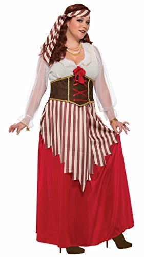 Wench Costume Size 18 (Adult Plus Size Pirate Wench Costume - Plus fits size 18-22)