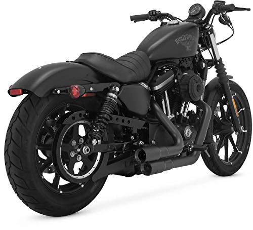 09-19 HARLEY XL883N: Vance & Hines Mini-Grenades 2-into-2 Exhaust (Black)