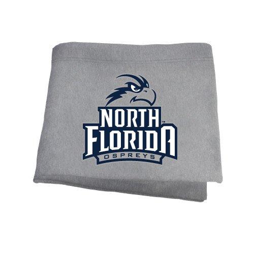 CollegeFanGear North Florida Grey Sweatshirt Blanket 'Official Logo' by CollegeFanGear