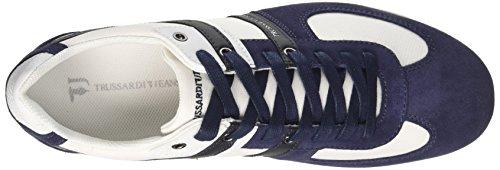 77a00068 Uomo Collo Basso Blu a Jeans Blu Trussardi Sneaker Navy 5qawZA6n