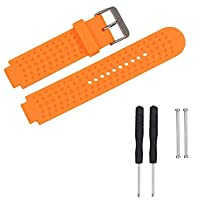 Feicuan Silicone Sport Smartwatch Strap 15mm Watchband Bracelet for Garmin Approach S6 S20 -Orange