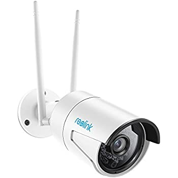 Reolink RLC-410WS 4MP Super HD 2.4/5Ghz Dual Band Wi-Fi Wireless Security IP Camera, Fixed Bullet with 16GB Micro SD